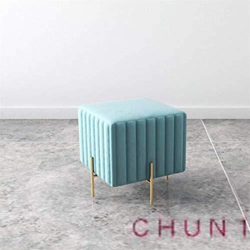 CHU N1 Stool, Stoff Vacuum Plating Fuß Hocker Heim Eintrag Schuhmöbel X40 40 x 45 cm (L × B × H) 126 (Size : 6)
