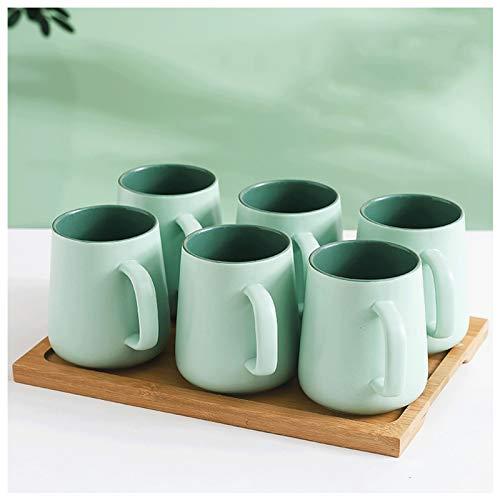 FEIYIYANG Tazas Taza de Gran Capacidad Taza de Contraste Personalizada Taza de café Taza de té Taza de cerámica 500 ml, Adecuado para Leche, Bebidas Calientes y frías, café Taza