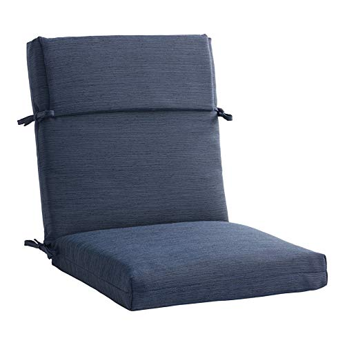 allen + roth 1 Piece Madera Linen Navy Patio Chair Cushion