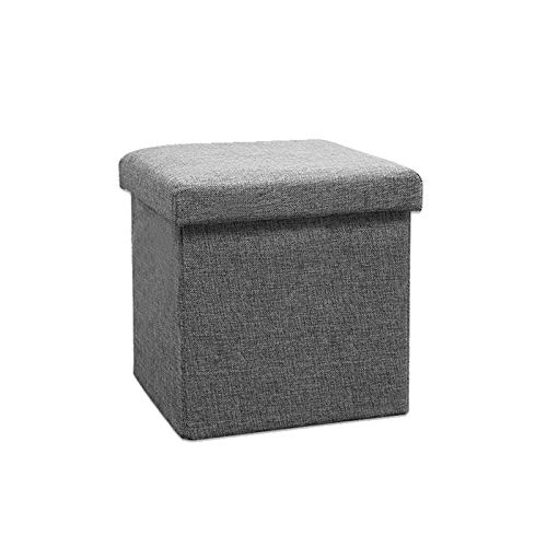 FINDYU Folding Footrest, Portable Compact Lightweight Square Stool Change Shoes Foldable Storage Foot Stool (Color : Gray, Size : 30×30×30cm)