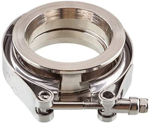 """2.25"""" V-Band Flanges and Clamp Kit Male Female V Band Flanges Assembly Compatible with Exhaust Systems Turbo Parts"""