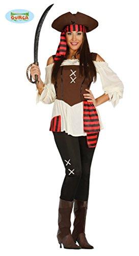 Guirca Piraten Kostüm für Damen , Größe:L