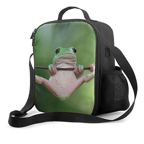 NE Premium Lunch Box, Frosch auf einem Stock Isolierte Lunch Bag für Männer Frauen Erwachsene, Büroarbeit Picknick Wandern Strand Lunch Box