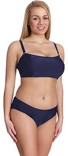 Merry Style Conjunto Bikini Sujetador y Bragas Bañador 2 Piezas Mujer P610-62MIX (Azul Oscuro, EU(Top 85 B / 42)=ES(100B/44))