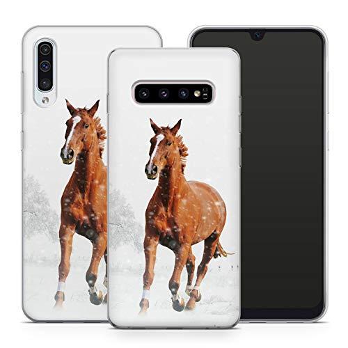 Handyhülle Pferd für Samsung Silikon MMM Berlin Hülle Pferde Reiter Horse Sattel Reiten Pony Einhorn, Kompatibel mit Handy:Samsung Galaxy A3 (2017), Hüllendesign:Design 3   Silikon Klar