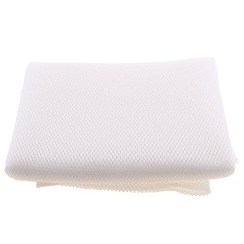 Sharplace Haut-Parleur Grille Tissu Speaker Dust-Proof Cloth Stereo Fabric Mesh Cloth - Blanc