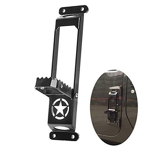 Pedal del Coche,Coche Puerta Plegable Bisagra Paso Pedal para Je ep Wrangler JK JKU JL 2007 2018,Pedal Modificado De La Puerta del Coche,Accesorios AutomóViles,BlackA-1
