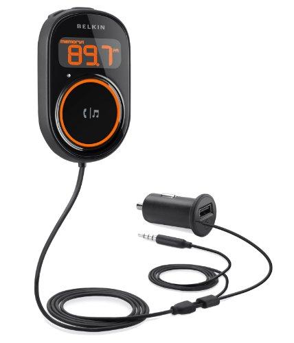 Belkin Car Audio Connect FM Transmitter und Freisprecheinrichtung (3,5mm Klinke universal, LC-Display, USB)