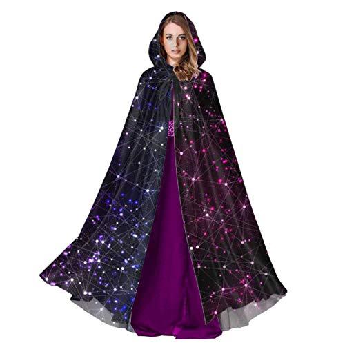 ZHANGhome Increíble Sistema Solar Capa Espacial para Adultos Capas y Capas 59 Pulgadas para Navidad Disfraces de Halloween Cosplay