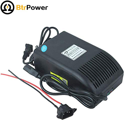 BtrPower 72V 5A Ebike Battery Charger for 72V Electric Bicycle LiFePO4 Battery Pack 87.6V Output AC110V