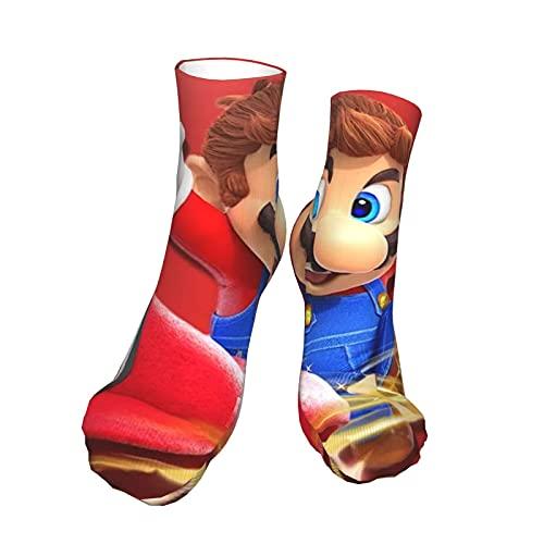 Videospiel Heroes Mario Rennauto-Socken, Laufen, Stoßdämpfung, Feuchtigkeitstransport, atmungsaktiv, für Jungen & Mädchen