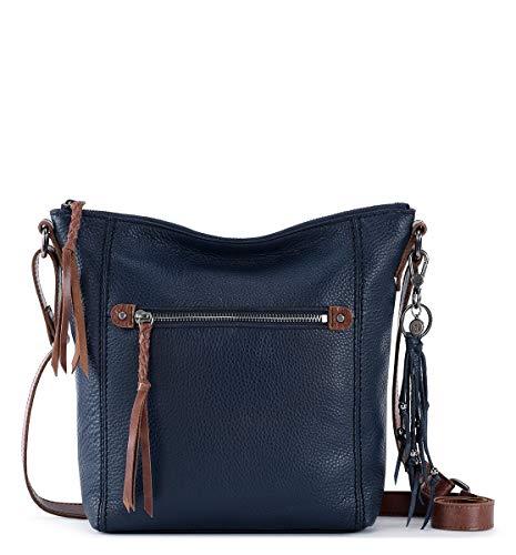 The Sak womens Women's Ashland Leather Crossbody Handbag, Indigo, One Size US