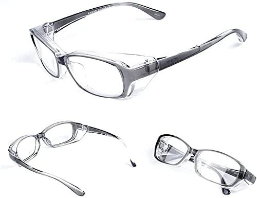 Gafas de polen gafas gafas gafas gafas heno fiebre gafas nublado detener el virus bacterias salpicaduras de polen gafas UV Corte clara Las gafas de sol se colgan de la parte superior de las gafas