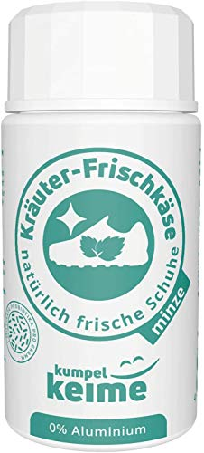 Kräuter-Frischkäse Minze - das mikrobiologische Schuhpuder - Schuh-Deo gegen Fuß-Geruch