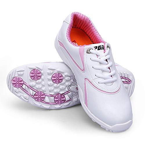 Zapatos de Golf Impermeables para Mujer,Zapatillas de Golf Sin Tacos, Transpirables Y...