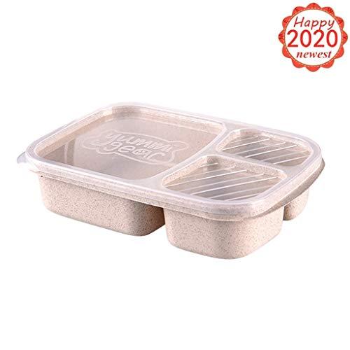 Meal Prep 3 Compartiment Contenants De Nourriture Boîte à réchauffer au micro Pile mesure BPA Free