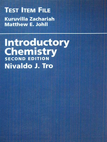 Introductory Chemistry Test Item File, Second Edition