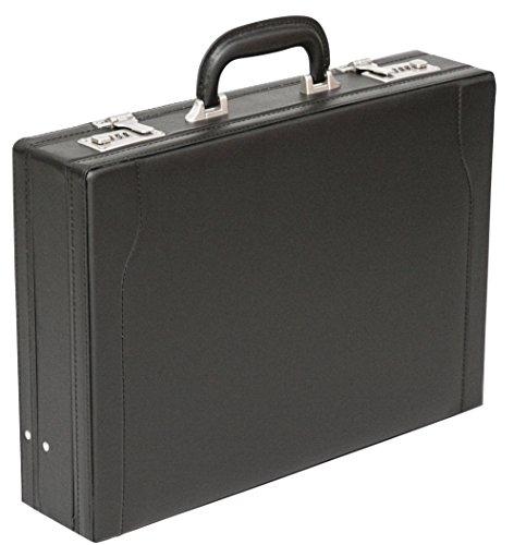Tassia PU Leather Look Expanding Briefcase - Twin Combination Locks