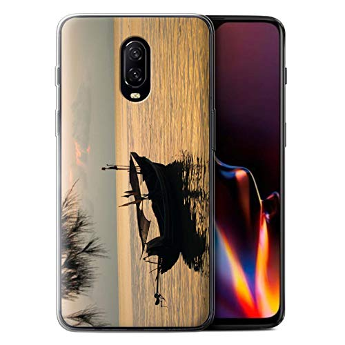 STUFF4 Gel TPU Phone Case/Cover for OnePlus 6T / Fishing Boat Design/Thailand Scenery Collection -  MR-1PLUS6T-GC-MP-THAI-FISHING