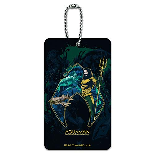 Aquaman Movie Atlantis Logo Luggage Card Suitcase Carry-On ID Tag