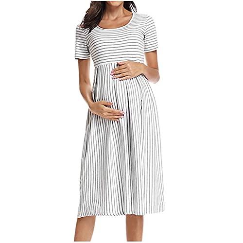 Vestidos de maternidad para mujer, vestido de maternidad sin mangas, vestido de lactancia materna, vestido de verano de talla grande, vestido de fiesta bodycon