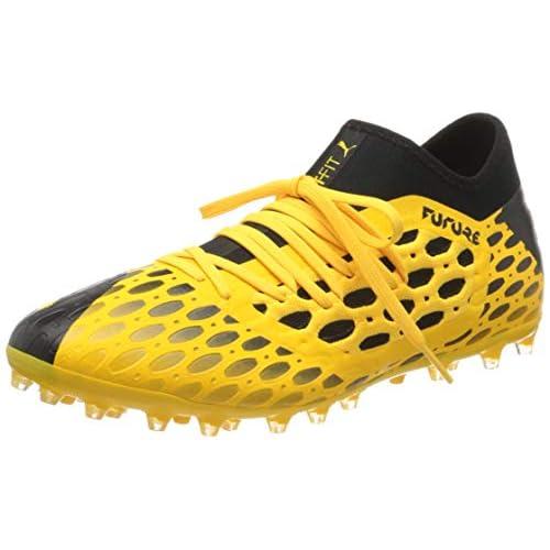 PUMA Future 5.3 Netfit MG, Scarpe da Calcio Uomo, Giallo (Ultra Yellow Black), 45 EU