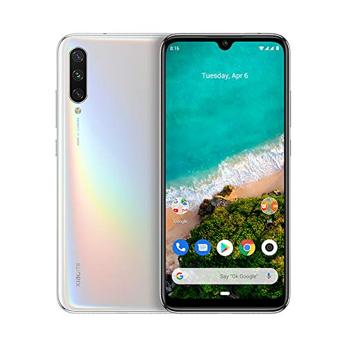 "Xiaomi Mi A3 - Android One, 6.088""AMOLED (fotocamera frontale da 32 MP, posteriore 48 + 8 + 2 MP, 4030 mAh, jack da 3,5 mm, Qualcomm Snapdragon 665 2,0 GHz, 4 + 64 GB), Pure White [versione spagnola]"
