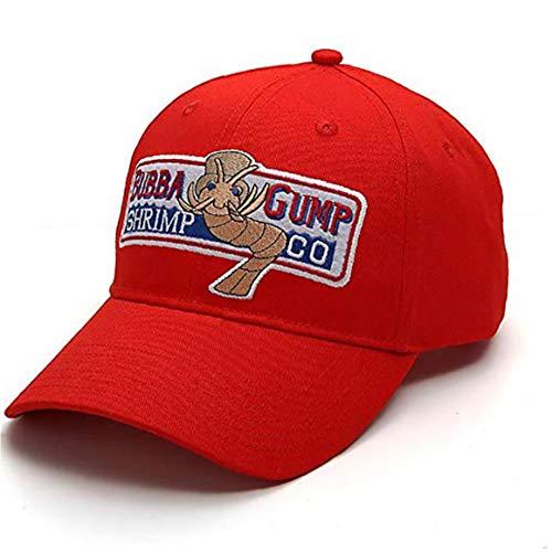 Angoter Bubba Gump Shrimp Chapeau Brodé Réglable Forrest Gump Casquette De Baseball pour Unisexe