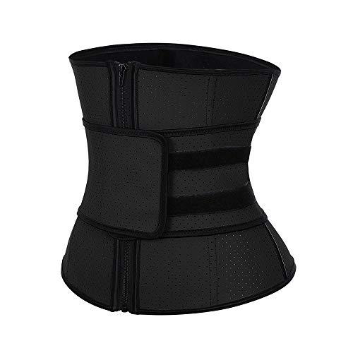 Waist Trainer for Weight Loss,Women Trimmer Slimmer Belt Latex Corset,Weight Loss Tummy Control Sport Workout Body Shaper,Black,S