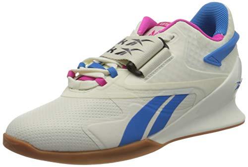 Reebok Legacy Lifter II, Zapatillas de Deporte Mujer, Chalk/PROUDP/HORBLU, 38.5 EU