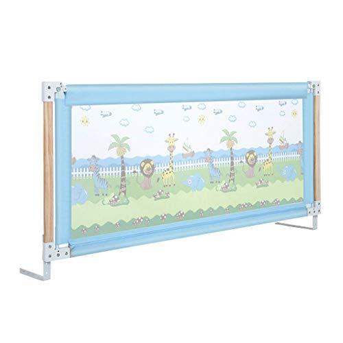 Veiligheid Baby Guardrail Anti-val Bed Rail/Verticale Lifting Baby veiligheid nachtkastje voor peuter, stalen buis + hout valbeveiliging Verstelhoogte 76-96cm, 2 kleuren (150/180/200cm)