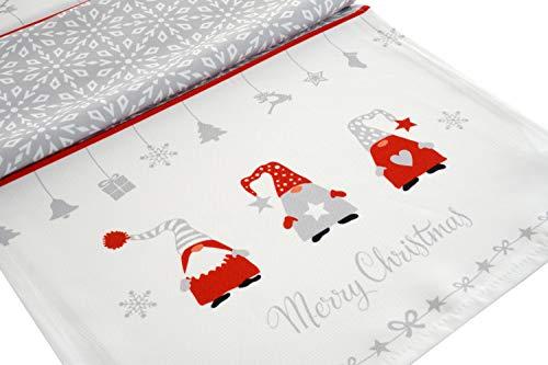 khevga Deko Weihnachten: Tischläufer Wichtel