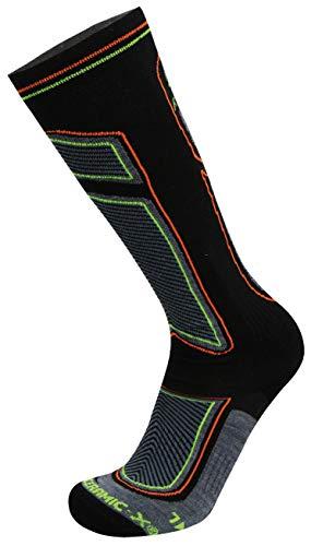 RYWAN Bio Ceramic X Infrared Ski-Socks Infrarot strümpfe, Black/Yellow/Orange, 41-43