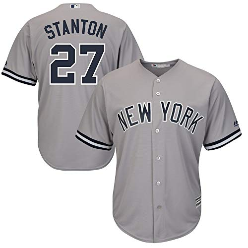 Personalizada Camiseta Deportiva Baseball Jersey Major League Baseball # 27 Stanton New York Yankees