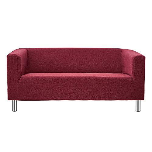 Panana 2 Seater Sofa Or 3 Seater Sofa Compact Sofa Corner Sofa for Living Room Flat Modern Simple Design Sofa with Chrome Legs (Red, 3 Seater)