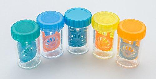 Farbe Kontaktlinsenbehälter Fassförmig | 3 Stück | Von Sports World Vision