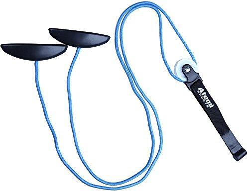 Atemi Sports Schulter Physiotherapie Seilzug | Fitness Gymnastik Seil mit Handgriffe und Befestigung | Shoulder Pulley für Training, Rehabilitation, Reha, Schulterbeweglichkeit, MSD