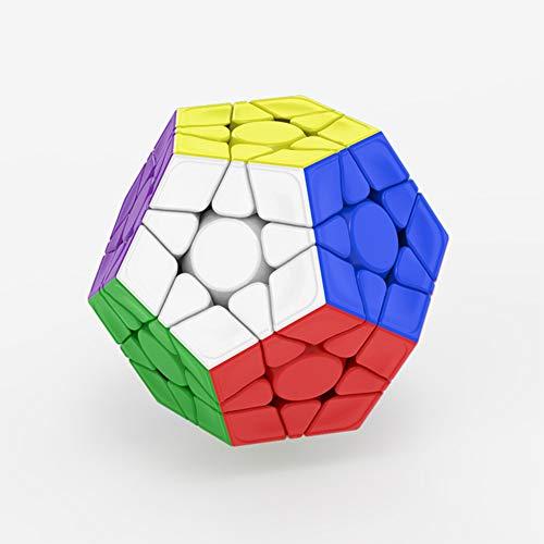 AKDSteel Dayan Magic Cube - Cubo de plástico (3 x 3 cm), diseño de lunares, color negro
