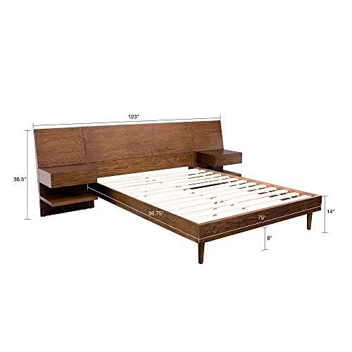Clark Bed with 2 Nightstands Pecan King