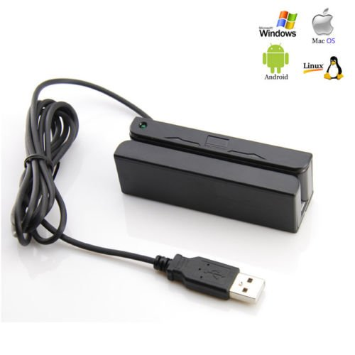 Best Buy! Credit Card Reader Portable Mini USB Magnetic Stripe Swiper MSR90