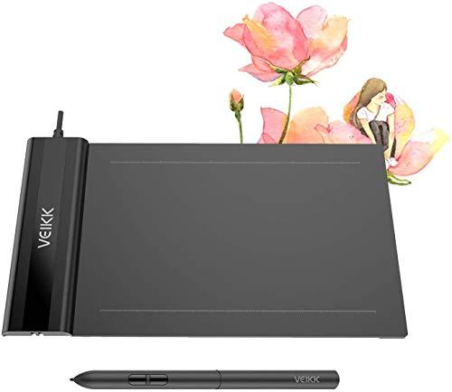 VEIKK S640 V2 Tableta de Dibujo gráfico OSU Pen Tablet de 6x4 Pulgadas con lápiz óptico sin batería para Android, Windows y Mac OS (presión de Nivel 8192)