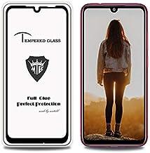 الهاتف المحمول خفف من الزجاج السينمائي Full Screen Full Glue Anti-fingerprint Tempered Glass Film for Xiaomi Redmi Note 7S (Black) خفف من الزجاج السينمائي (Color : Black)