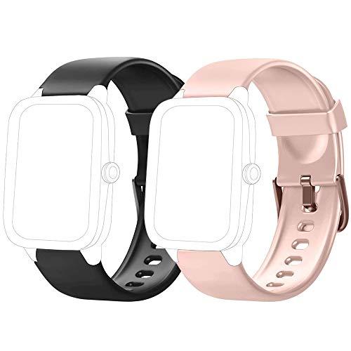 Flenco Smartwatch Cinturino di Ricambio per Smart Watch ID205   ID205L   ID205S   ID205U   ID205G   SW025   SW023   SW021   SW020   TE021   TE020   YM023   YM021  YM020 Cinturini di Ricambio