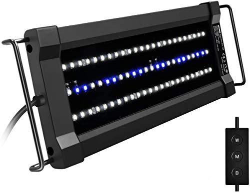 NICREW ClassicLED G2 Luz LED Acuario, Iluminación LED para Acuarios, Pantalla LED Acuario Lámpara de Planta para Pecera 30-43 cm, 11 W, 835 LM