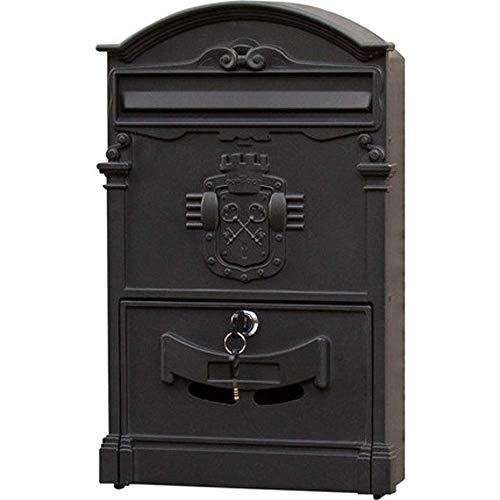 QTDH brievenbus voor wandmontage, veilig en afsluitbaar, brievenbus voor brievenbus, brievenbus voor kantoor en thuis.