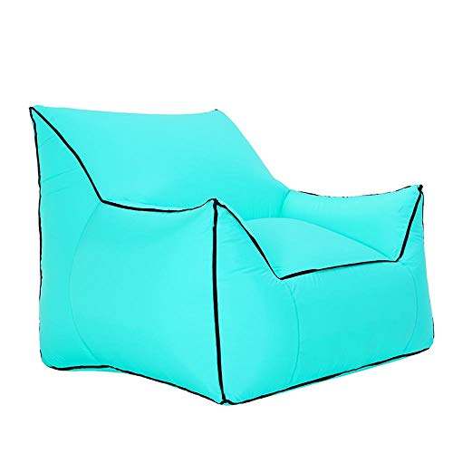 ZHENG Bodenstuhl Faltbar Meditationsstuhl Outdoor aufblasbares Sofa | Freizeit tragbarer Sitz | Schwimmbad Strand Sonnenbad Sofa | Freie Luftpumpe | Tragfähigkeit 200kg | 80 × 95 × 80 cm