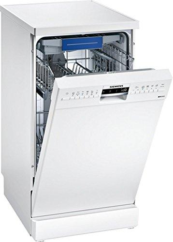 Lave vaisselle Siemens SR236W01ME - Lave vaisselle 45 cm - Classe A+ / 44 decibels - 10 couverts - Blanc bandeau : Blanc - Tiroir a couvert - Pose libre
