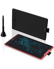 2019 NIEUWE HUION Inspiroy Ink H320M, Dual-Purpose Design Grafische Tablet en LCD-schrijftablet, Ondersteuning voor ± 60 ° Kantelfunctie, Compatibel met Windows, macOS, Android (Kwartszwart)