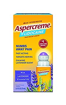 Aspercreme Essential Oils Lidocaine Pain Relief With Lavender Roll-On No Mess Applicator 2.5 oz.