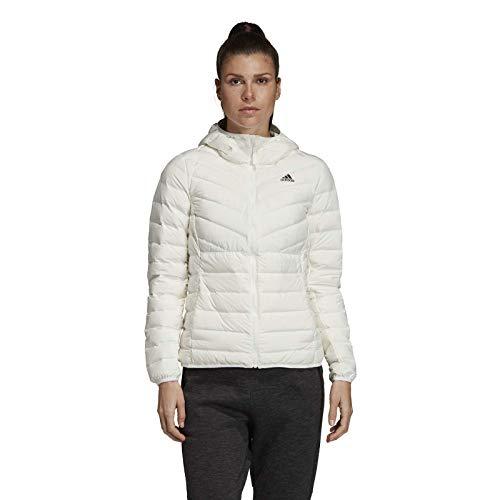 Originals Damen Varilite 3-Streifen Soft Hooded Daunenjacke Weiß